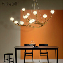 Nordic LED Pendant Light Lighting Design Glass Resin Branch Lamp Ceiling Lampara Lustre Art Kitchen Fixtures