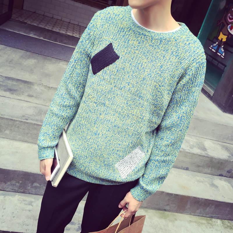 Original design 2017 o-neck pullover sweater male sweater top