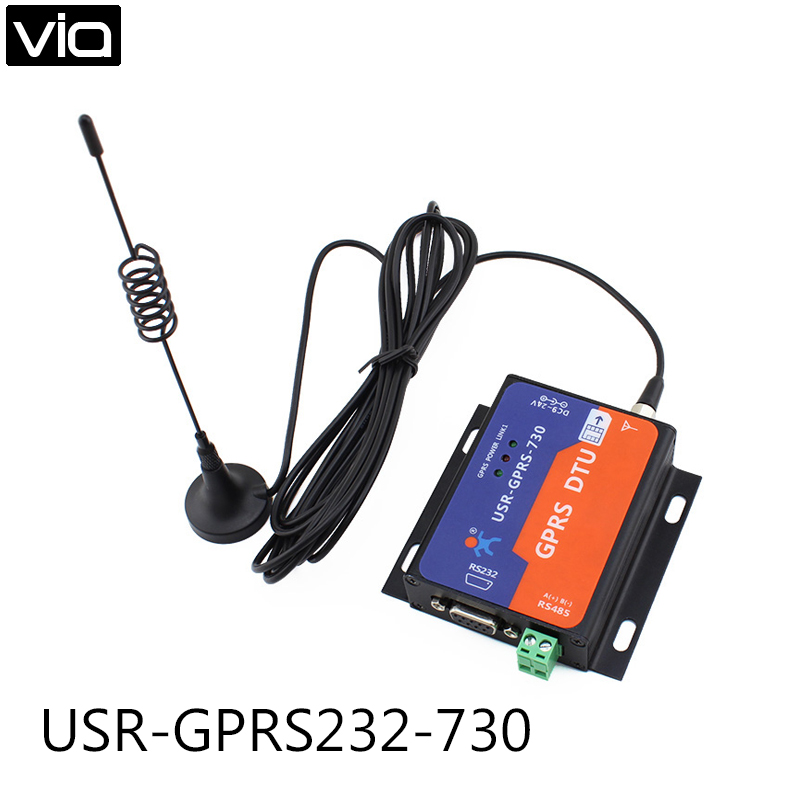 USR-GPRS232-730Free Shipping RS232 / RS485 GSM Modems Support GSM/GPRS GPRS to Serial Converter DTU Flow Control RTS CTS beautiful gift new usb to rs232 db9 serial com convertor adapter support plc drop shipping kxl0728