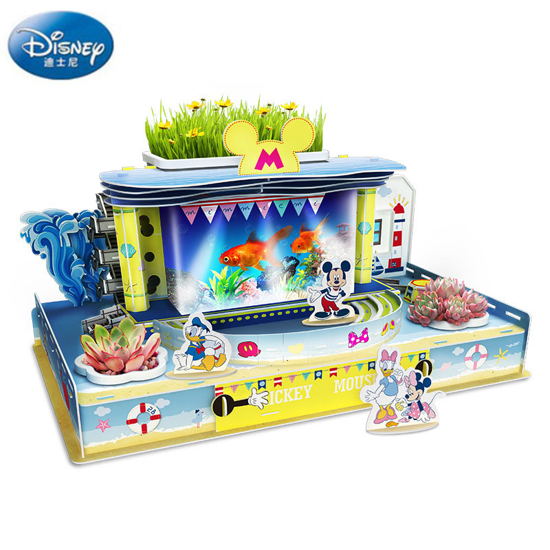 Disney Puzzles Games Happy Aquarium Scene Combination Handmade Children's DIY Stitching Puzzle Toys for Kids' Gifts