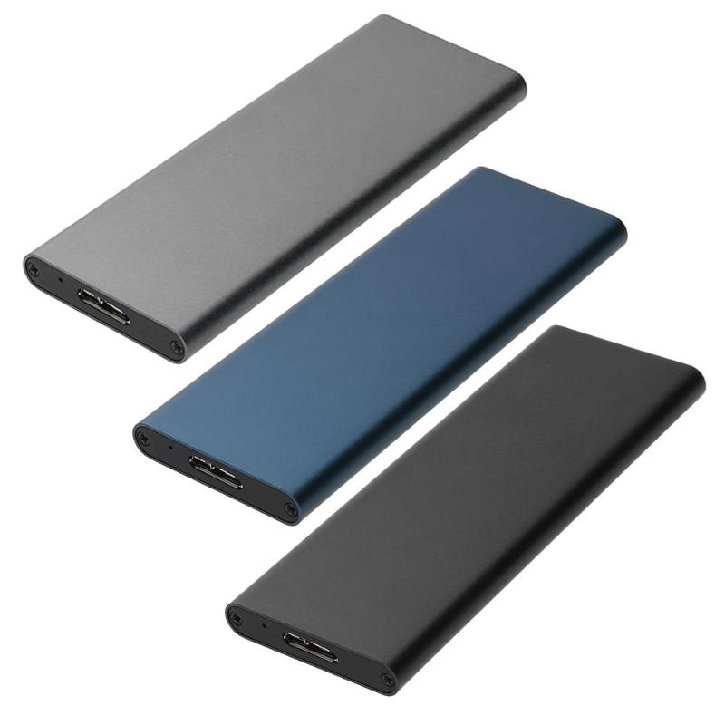 6 Gbps USB 3.0 To NGFF M.2 SSD Hard Disk Box External Enclosure Case HDD Enclosure Cases External Solid State Hard Disk Box Drop