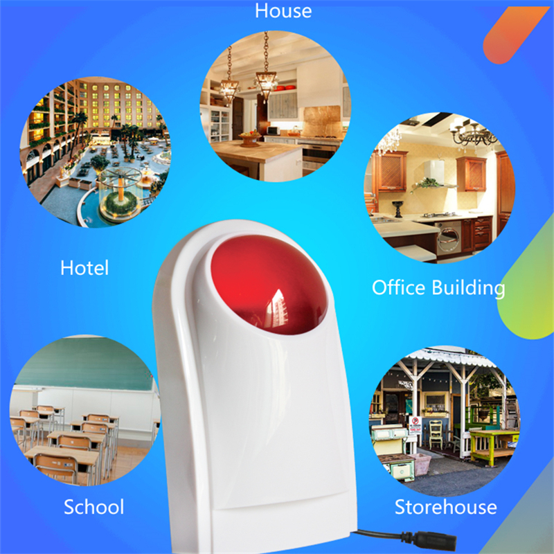 Wireless in-site alarm Flashing strobe Siren for home security Alarm System Red Light Strobe Siren multipurpose strobe siren dc 24v electronic red led flashing alarm buzzer siren 100db bj 3