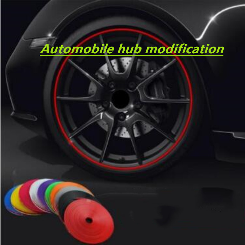 8M Automobile wheel trim strip FOR <font><b>Mercedes</b></font> S class W203 Benz W202 <font><b>W208</b></font> W210 CLK CLA A180 Car-Styling sticker <font><b>Accessories</b></font> image