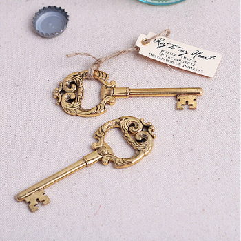 New Style Bottle Opener 20PCS/LOT Retro Yellow Key Wedding & Part Gift Souvenirs Free Shipping