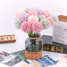 Small Dandelion Single Head Spiny Ball Simulation Flowers Home Holding Road Leading Wall Decoration Fake
