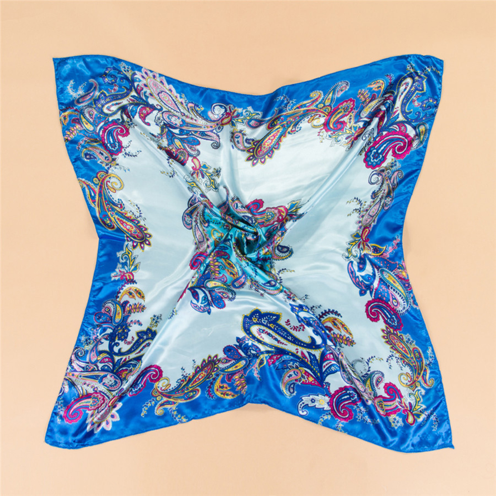 Women Fashion Soft Square Satin Large   Scarf     Wrap   35