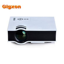 Gigxon-g40 800 lúmenes mini proyector led soporte full hd uc40 + multimedia home cinema proyector de cine 800*480 usb/av/sd/hdmi
