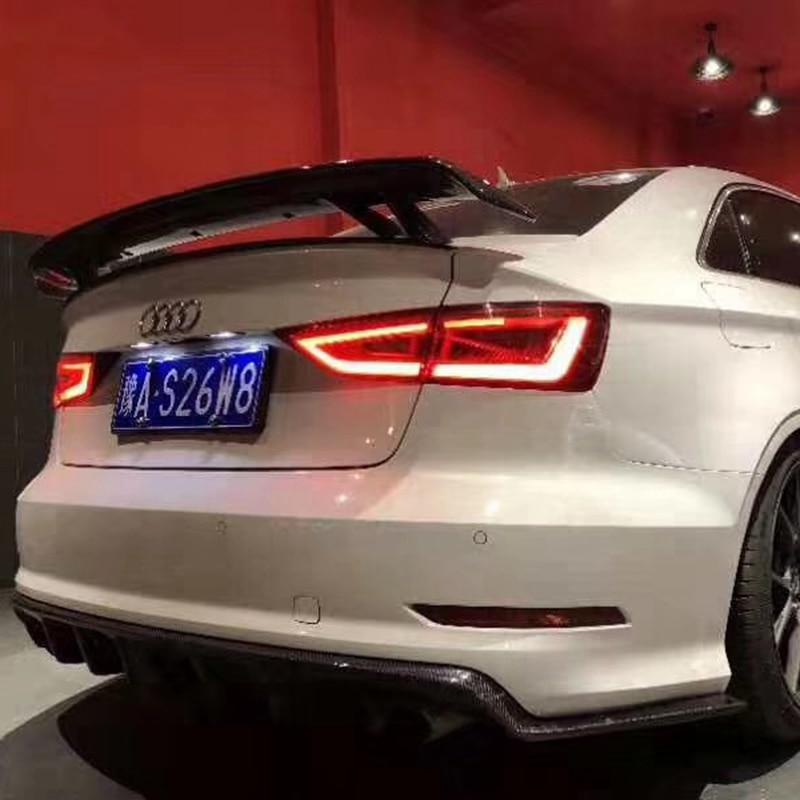 Z włókna węglowego uniwersalny styl tylne skrzydło spojler bagażnika dla Audi A3 S3 A4 A5 A6 A7 TT ogon Boot Lip skrzydło spojler