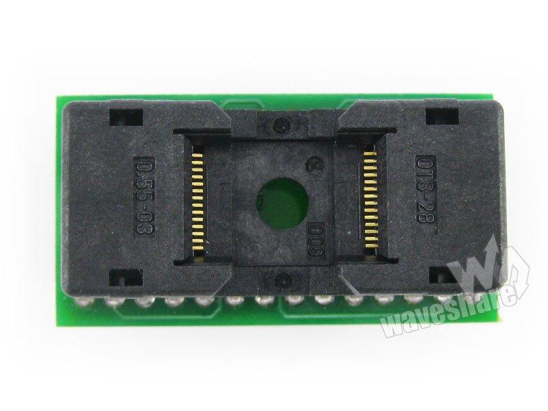 TSOP28 TO DIP28 Enplas IC Test Socket Programming Adapter for TSOP28 TSSOP28 Package MCU Chips