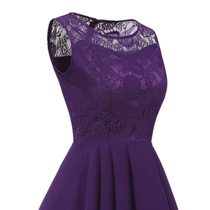 Image 5 - OML 536#Summer Sexy Lace Chiffon Violet Pink Bridesmaid Dresses Short long wholesale prom party Dress girl cheap wholesale women