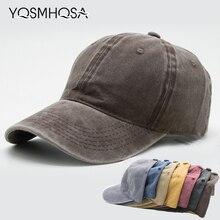 1423e6b7ddeab2 Casual Men Cotton Solid Baseball Cap Vantage Women Baseball Hat Girl  Adjustable Snapback Caps Bone Dad