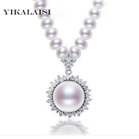 2016 New Fashion 100 Real Natural Pearl Necklace 925 Silver ZirconJewelry Girls Mother Best Gifts Pearl