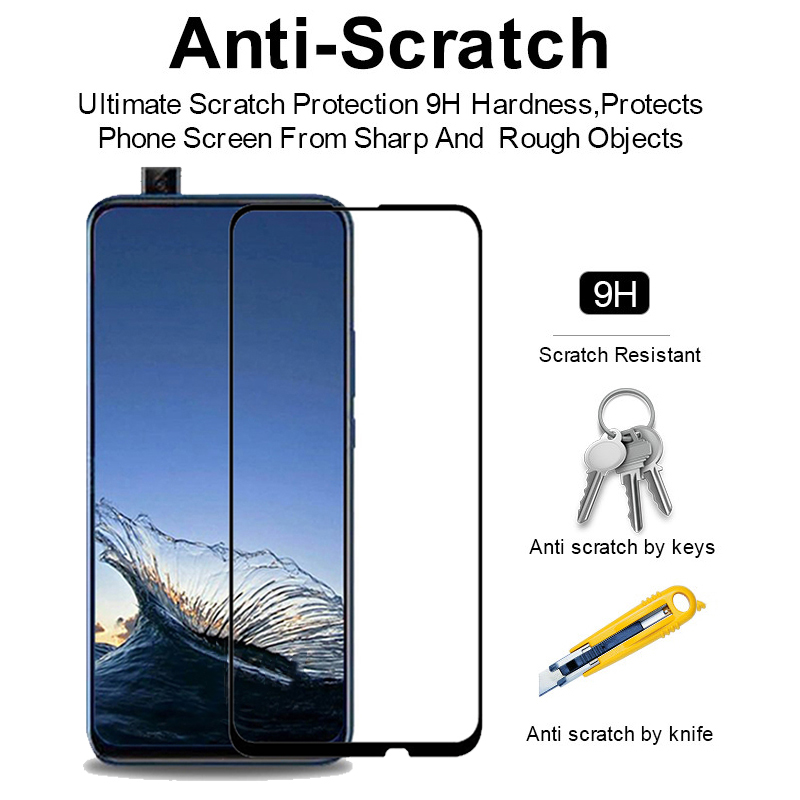 Image 2 - For Huawei P Smart Z Glass screen protector 9D Full Cover Protective film For hauwei Y9 Prime P Smart 2019 Glass psmart 9 y  LX1-in Phone Screen Protectors from Cellphones & Telecommunications