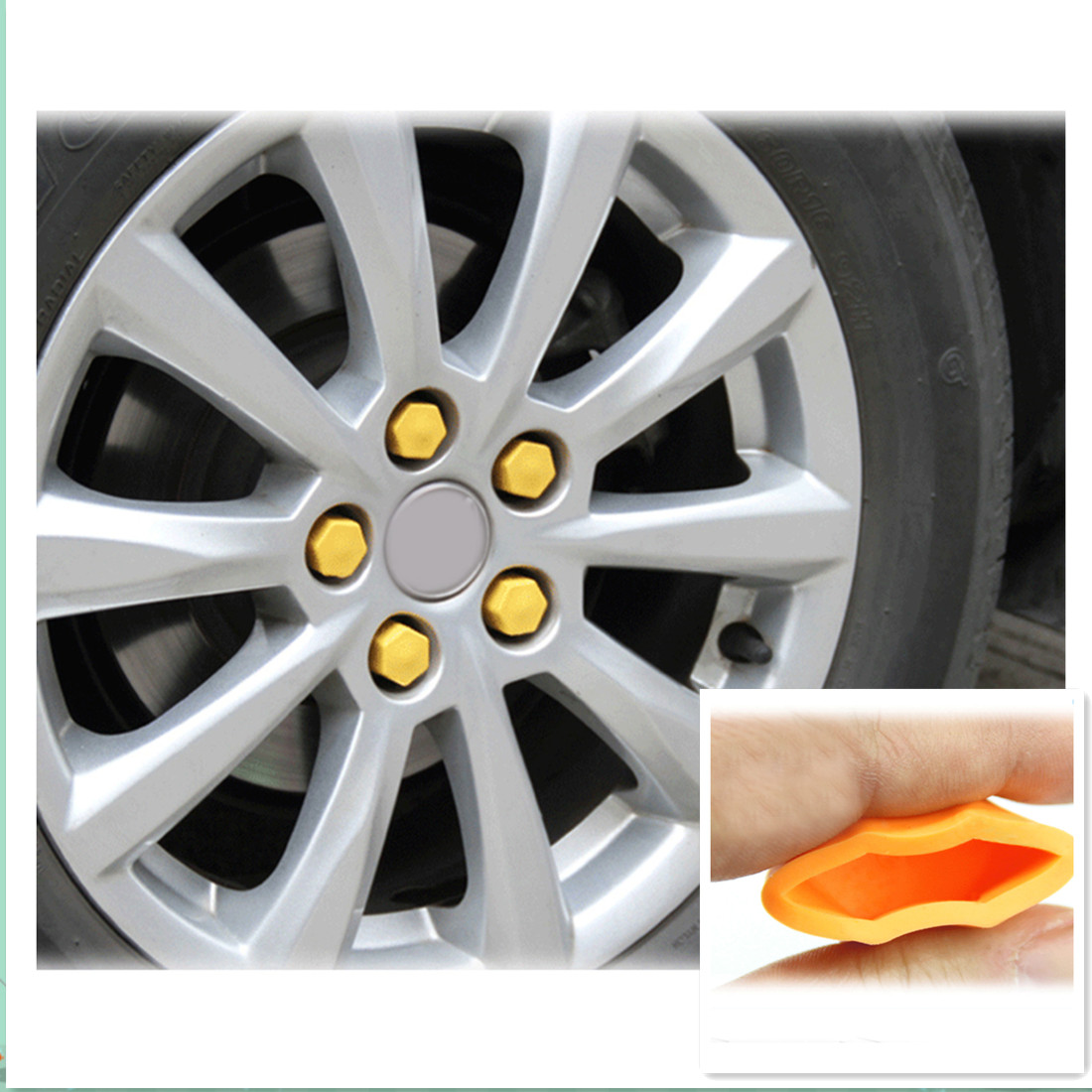 Candy Color Silicon Car Wheel Nuts Cover Protective Bolt Caps Hub Screw Cover For Ford Focus Kuga Escape Mondeo Fiesta Ecosport