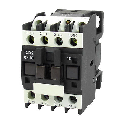 690V 20A 3 Phase 3P NO AC Contactor DIN Rail Mount 110V Coil CJX2-0910 sayoon dc 12v contactor czwt150a contactor with switching phase small volume large load capacity long service life