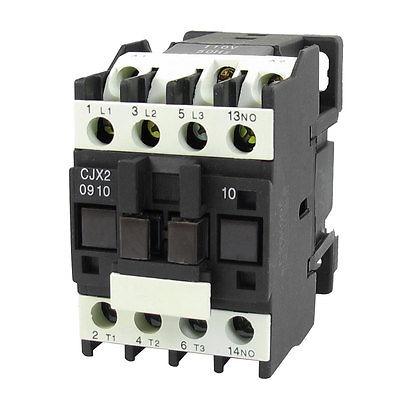 цена на 690V 20A 3 Phase 3P NO AC Contactor DIN Rail Mount 110V Coil CJX2-0910