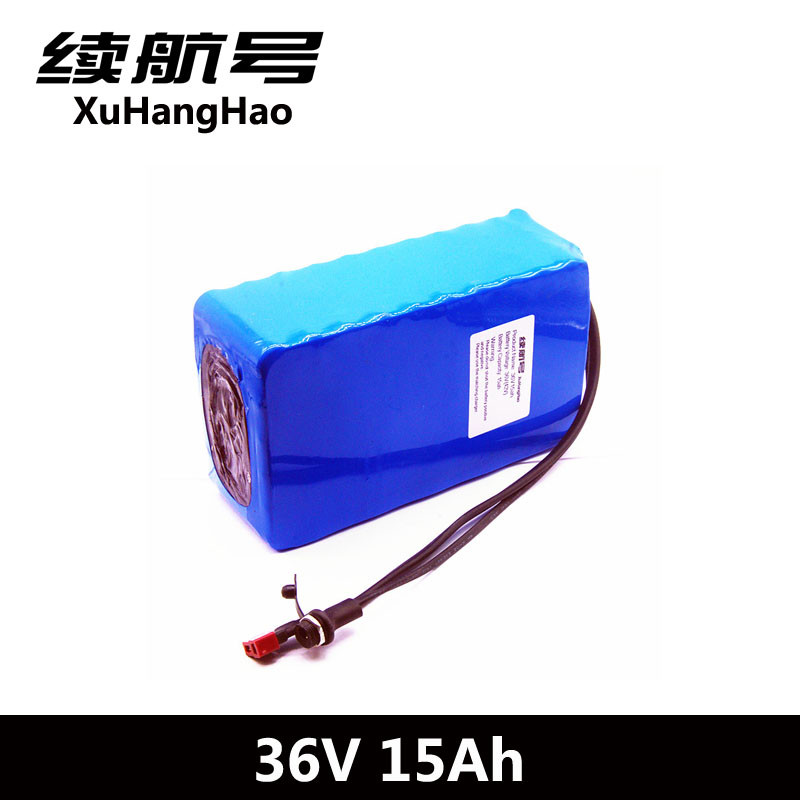 XuHangHao 36V 15AH lithium battery 36V 500W Electric bike battery use 2500mah 18650 cell with15A BMS