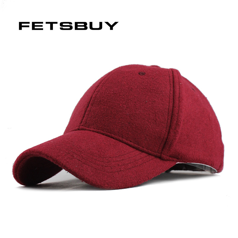 FETSBUY Wholesale Warm Winter Fedora Baseball Cap Men Brand Snapback Black Solid Bone Casquette Baseball Mens Winter Hats Gorras fetsbuy wholesale warm winter fedora baseball cap men brand snapback black solid bone casquette baseball mens winter hats gorras