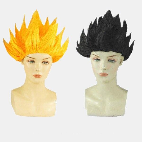 2018 New Goku Cosplay Wigs Dragon Balls Super Saiyan Blue Black Yellow Goku  Peluca Anime Men Adult Women Hair Flame Wigs 7f2a506670