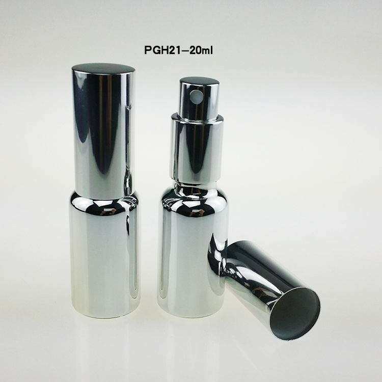 hot 100pcs 20 ml glass spray bottles for perfume , 20ml glass mist spray bottles for sale , luxury chrome glass spray atomizer