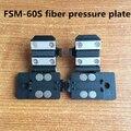 Envío gratis Fujikura FSM-60S Fusionadora clamp/placa de fibra/coleta/jumper placa 60 s abrazadera de fibra óptica placa 1 par