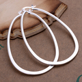 Big Circle hoop earrings 925 Pure silver  e001 gift box Free Fashion New Jewelry Brincos de Prata