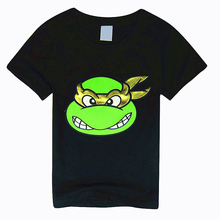 Summer cartoon children's short sleeve Ninja turtle  kids clothes Boy t-shirt 2 to 6year цена
