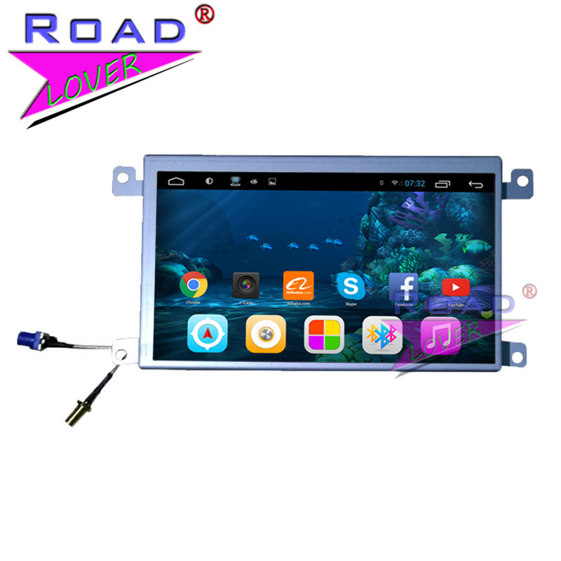 Roadlover Android 7.1 Car GPS Navigation For Audi A6L (2007 2011) Q7 (2006 2015) Video Stereo Head Unit Auto Radio NO DVD 2 Din