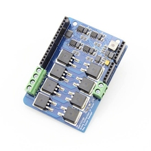 Large Current Motor Shield For Arduino UNO R3 MEGA R3 8A 22V Dual Channels H-Bridge  цена