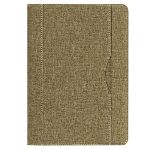 Green iPad folio case with stand and pen holder