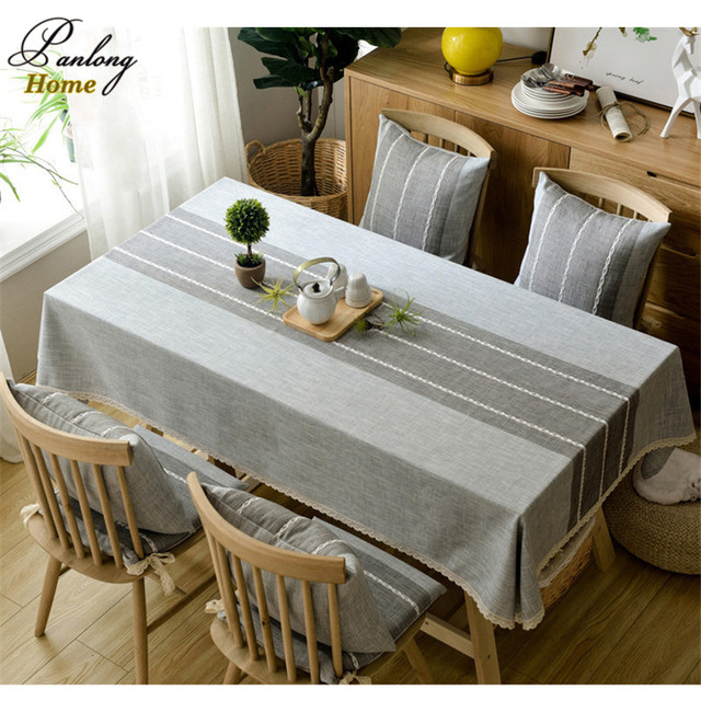 PanlongHome Modern Minimalist Rectangular Thicken Cotton Linen Table Cloth  Tablecloths TV Cabinet Cover Towel Coffee Tablecloths