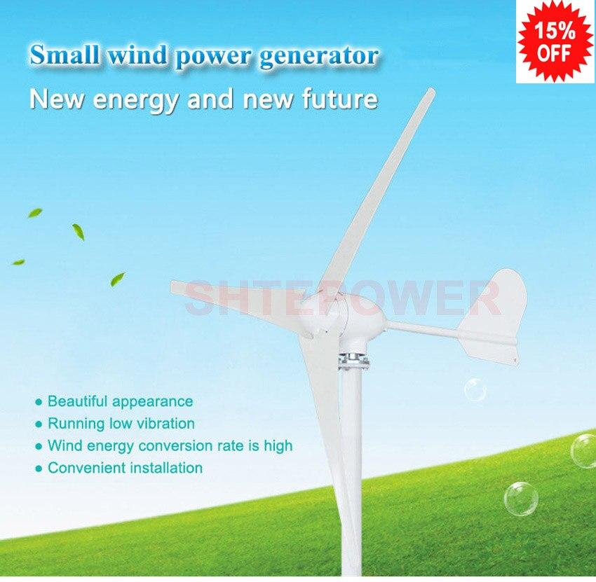 Générateur de puissance de moulin à vent de 3 phases ac 48 v 500 w 500 watts avec 2.5 m/s 3/5 lames