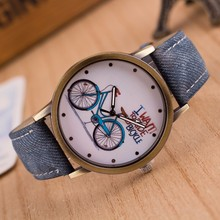 Hot Bicycle Pattern Sport Men Watches Casual Brand Leather women Watch Erkek saatler Quartz Wristwatches Clock Relogio Masculino
