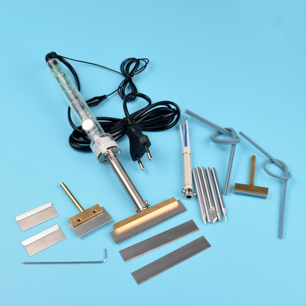 22pcs  Adjustable  100-450 degree eu 220v 60W Remove UV glue soldering iron+Blade For Lcd Screen Refurbish repair tool 946d screen separator with accessories uv glue uv lamp moulds etc glue remove machine