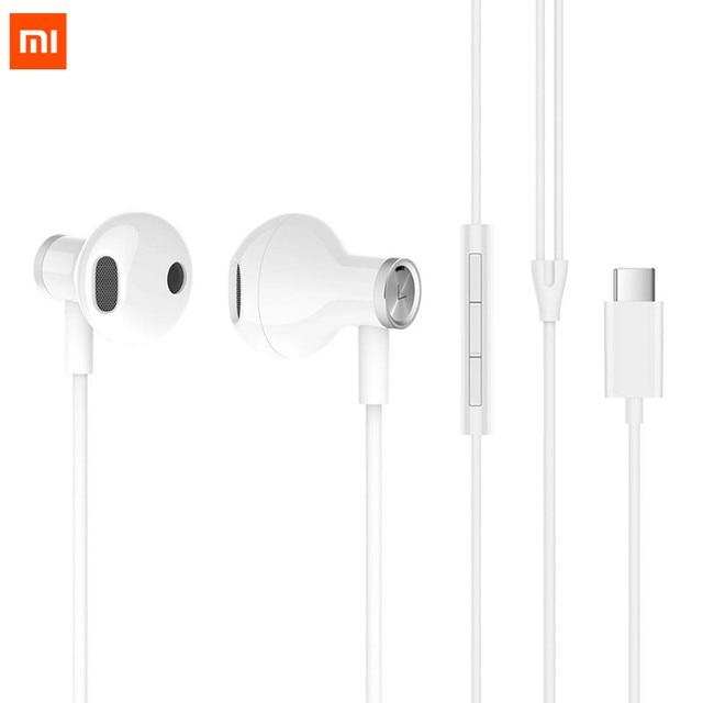 シャオ mi イヤホン USB タイプ C/3.5 ミリメートルヘッドセット半分耳有線制御イナ mi c セラ mi c スピーカーヘッドフォン MEMS mi c mi ヘッドセット D5