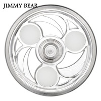 JIMMY BEAR 1 Pcs Fidget Spinners Round Fire Wheel EDC Fidget Spinner Metal ADHD Hand Spinner