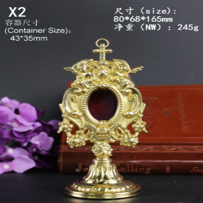 High Quality Ostensorium Monstrance Copper Holy Box Catholic Holy Exquisite Grace Beautiful Generous Holy Jesus Reliquary Christ