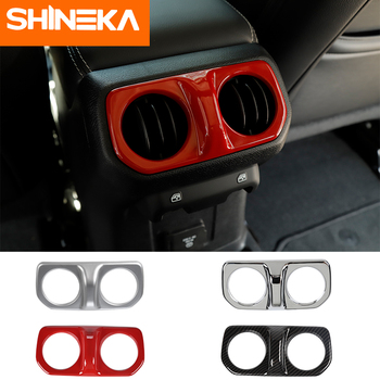 SHINEKA Interior Mouldings For jeep wrangler jl Armrest Air Conditioning Decorative Sticker for jeep wrangler jl accessories shineka car sticker for jeep wrangler jl accessories rearview mirror carbon fiber chrome decoration sticker for wrangler 2018
