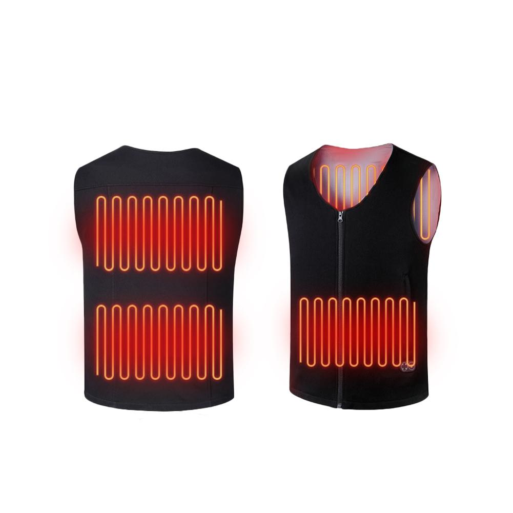 Controllable USB Charging Intelligent Heating Cold Warm Body Electric Battery Powered Heated Vest Insulate Waistcoat For Parents