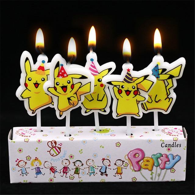 Aliexpress.com : Buy 5pcs/lot Pikachu Party Decorations Candles Kids on