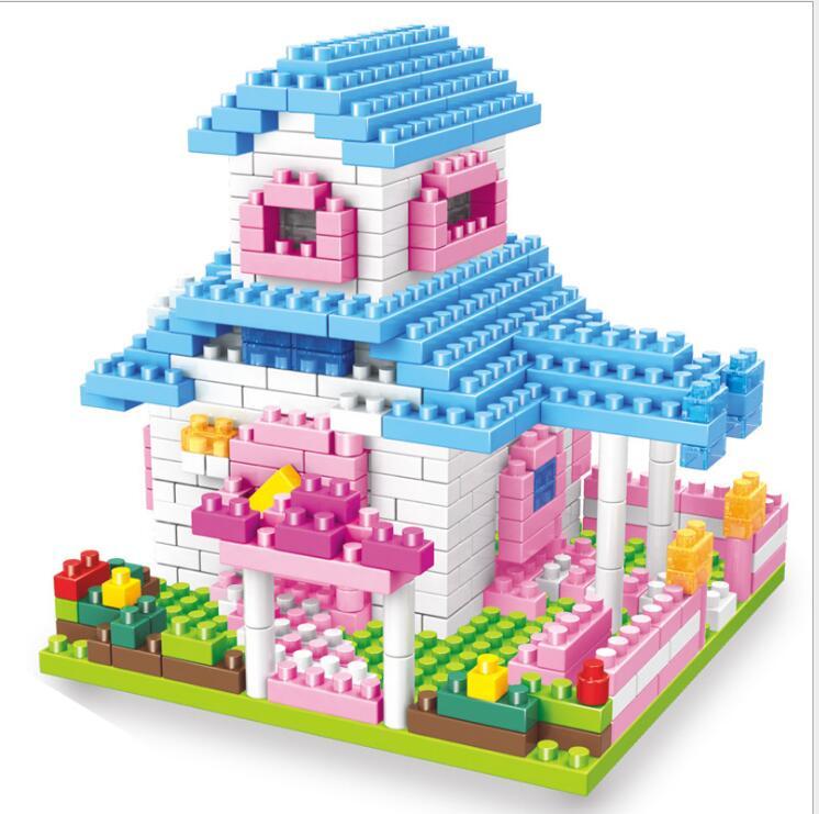 Christmas Super Large Villa 374Pcs Building Blocks DIY ...