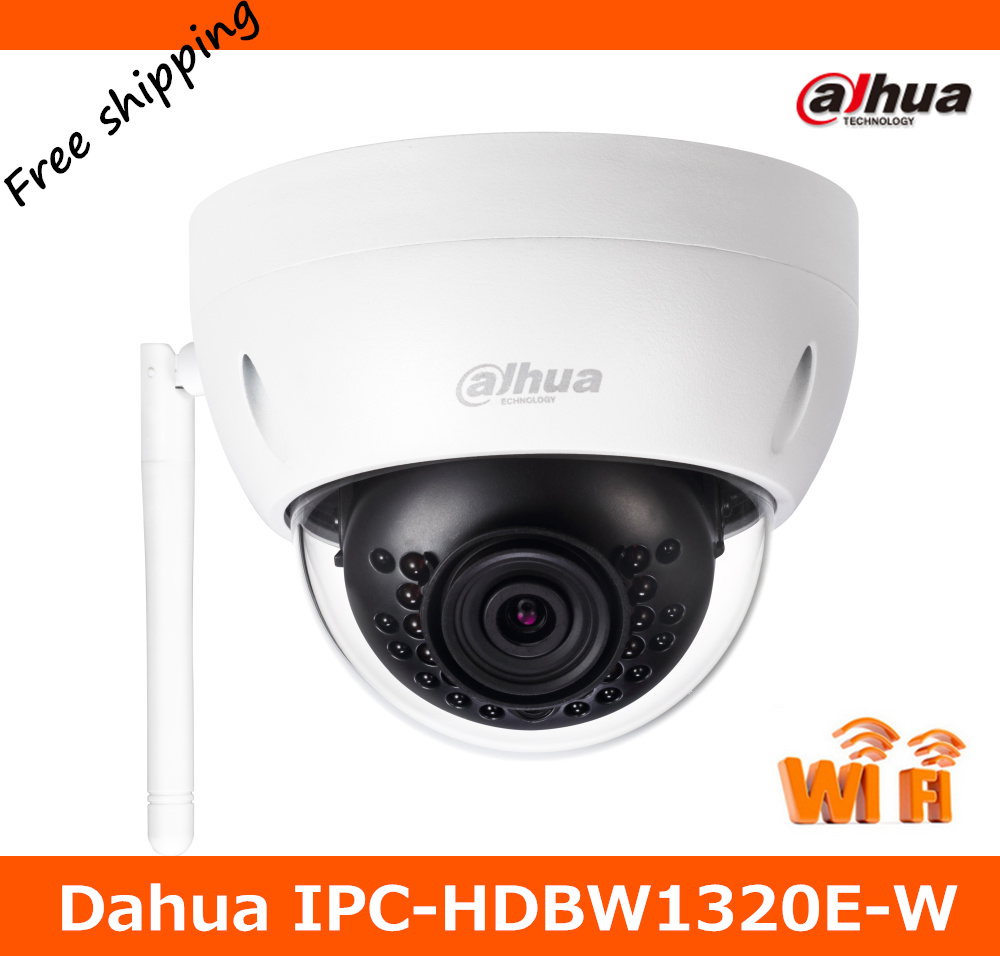 Newest Dahua 3MP HD Wi Fi IR Mini Dome Camera IPC-HDBW1320E-W Wireless Network Camera Max. IR LEDs Length 30m Support SD card grey sleeveless design chest cut out top