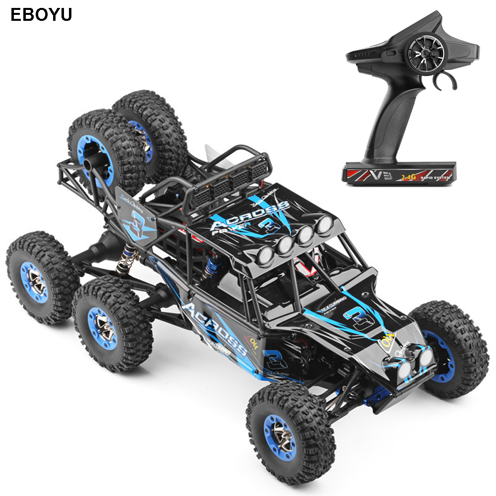 Wltoys 12628 1:12 RC Car 2.4G 40Km/h 6WD Electric Off-Road Rock Crawler Climbing RC Buggy RC Car RTR ...