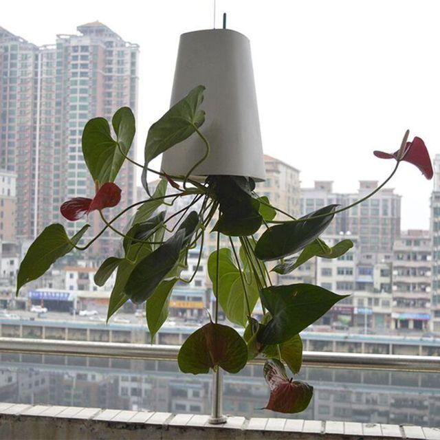 2019 nuevo cielo jardín creativo flor aérea maceta de plástico colgante maceta orquídea maceta al revés pequeña maceta invertida