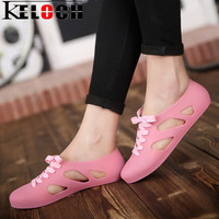 Keloch 7 Colors Summer Sandals Women Flat Jelly Sandals Fashion Sweet Jelly Shoes Woman Shoes For