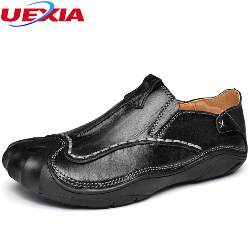 UEXIA 2018 Oxfords Men Shoes Leather Casual Breathable Men Flats Shoes Lace-Up Round Toe Men Moccasins Fashion Designer Loafers men s brogue shoes fashion brown pointed toe leather shoes breathable lace up men casual shoes moccasins size 38 43 8205m