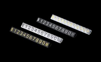 30 set di Prezzo Tag Dollaro In Numeri Cubi Blocchi di Montaggio Bastone Combinato Numero di Cifre Tag Segno Prezzi Dei Monili Della Vigilanza Del Banco di mostra