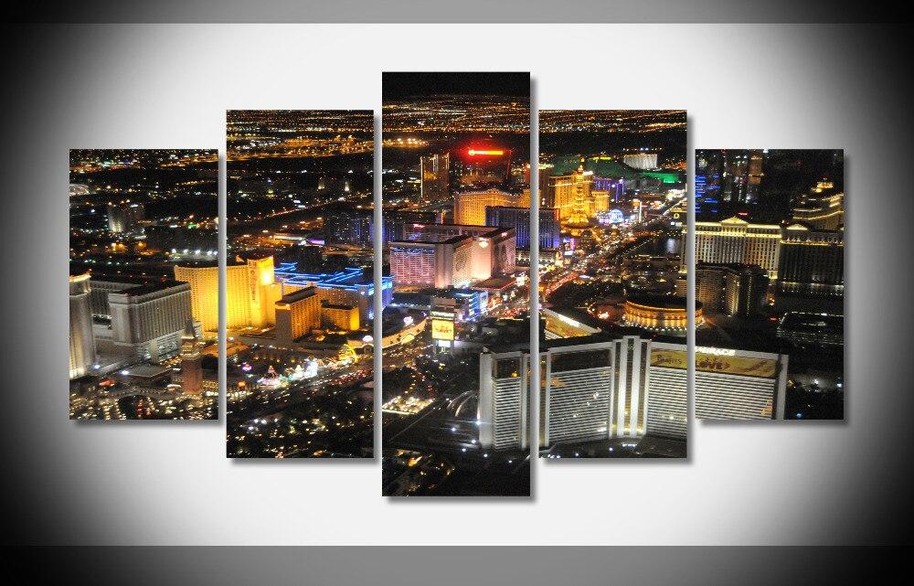 6574 Las Vegas City At Night Poster Home Nice Fine Framed