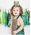 4pcs/lot girls jumpsuit kids clothes children clothing sequined green boys romper 0706 sylvia 521054992319