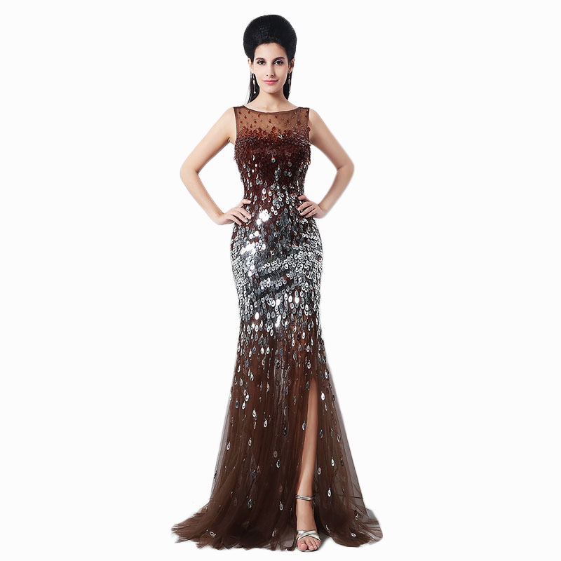 Popular Long Brown Prom Dresses-Buy Cheap Long Brown Prom Dresses ...